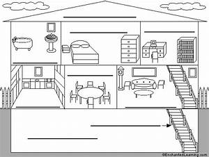 Label The Rooms Of A House In Italian Printout
