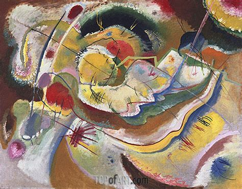 painting  yellow improvisation kandinsky