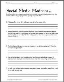 Social Media Madness Worksheet #4 - Fourth free printable