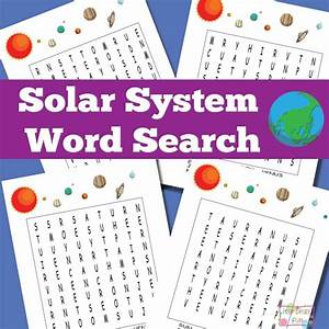 Solar System Word Search Puzzles - Itsy Bitsy Fun