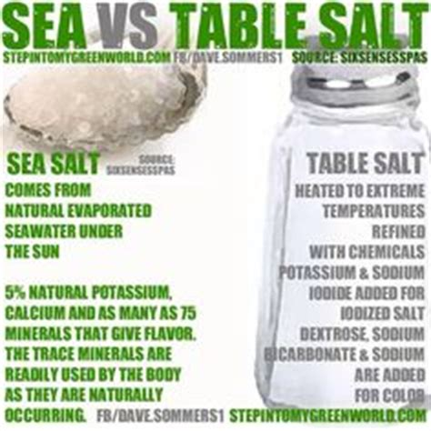 what is the difference between sea salt and table salt 1000 images about the cure for anything is salt water