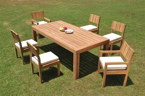 grade teak pc dining canberra rectangle table