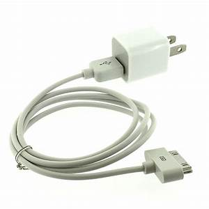 Ac Wall Charger Adapter Usb Data Sync Cable For Iphone 4