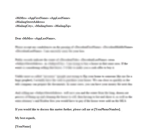 Letter Template by Probate Letter Templates Planner Template Free