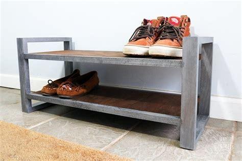 diy industrial shoe rack diy huntress