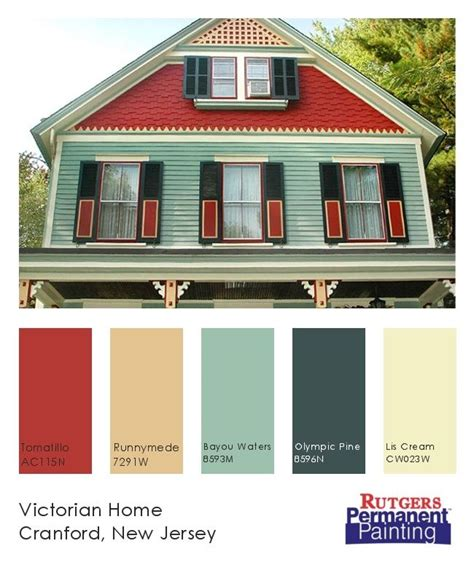 victorian house exterior color chart victorian home with