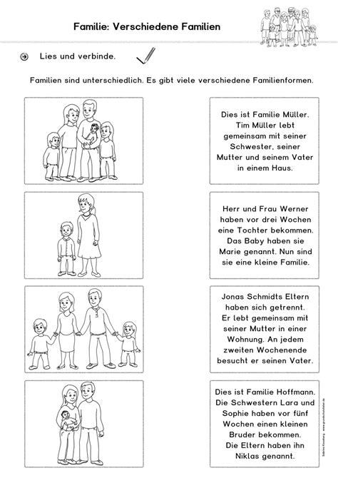 arbeitsblatt familie arbeitsblaetter sachunterricht