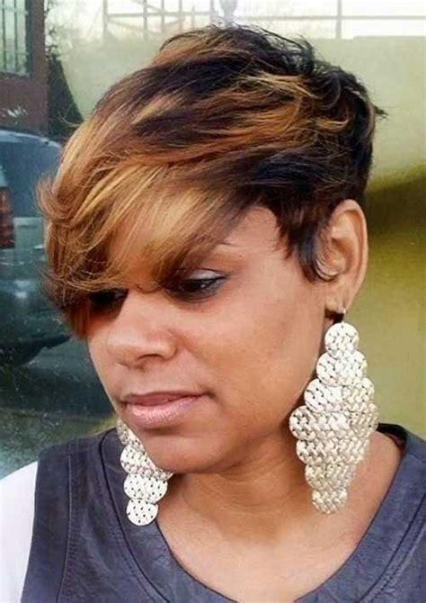 incredible short color haircuts african americancruckers