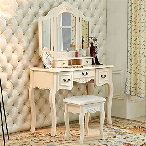 dressing table  mirror makeup table french wooden