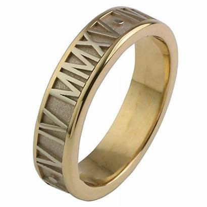 Roman Ring 10k Solid Numeral 6mm Numerals