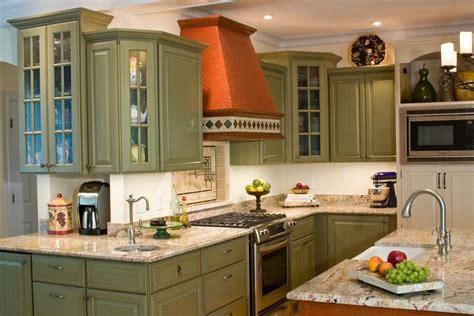 copper backsplash tiles green kitchen cabinets kitchen traditional with bar sink