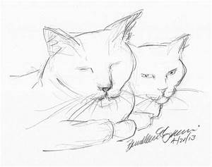 Easy Animal Drawings Simple Animals In Pencil - Litle Pups