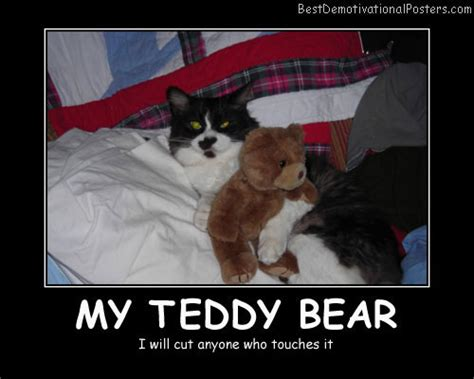 teddy bears   demotivational poster
