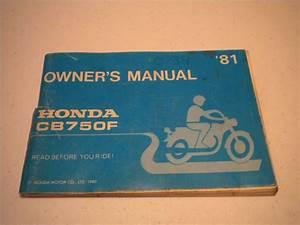 Honda Cb750f Owner U2019s Manual