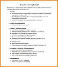 7 Executive Summary Templates Resume Reference