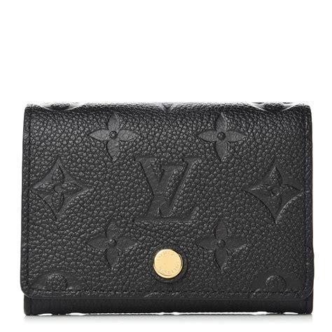 High quality louis vuitton for women. LOUIS VUITTON Empreinte Business Card Holder Black 396681