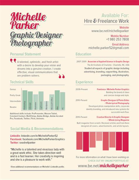 25 exles of creative graphic design resumes