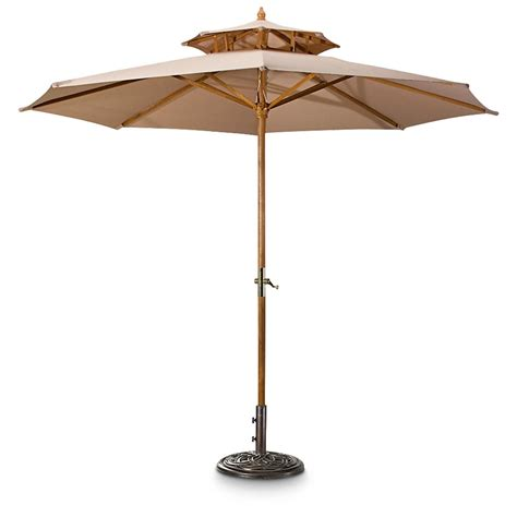 3 tier pagoda patio umbrella castlecreek 10 two tier market patio umbrella 234562
