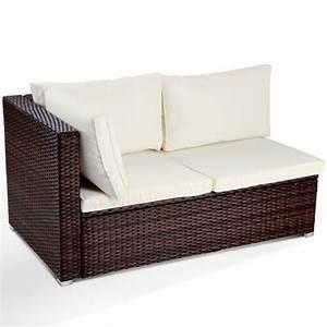 canape d39angle en resine tressee avec coussins 130 x 71 With canapé d angle en rotin tressé