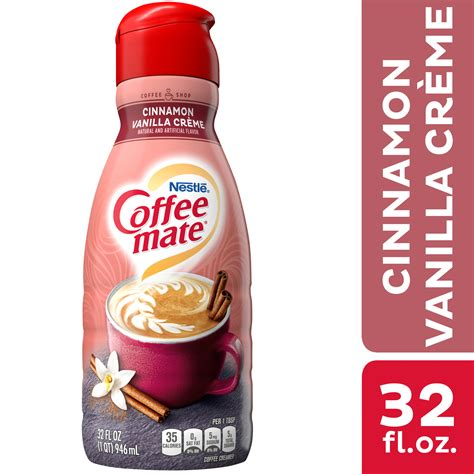 Coffee mate's new and returning fall and holiday flavors will be in stores nationwide from september through the end of the holiday season. Nestle Coffee mate Cinnamon Vanilla Creme Liquid Coffee Creamer 32 fl oz. - Walmart.com ...