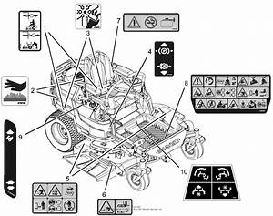 Gravely 915206  000101 -   Zt Xl 42 Parts Diagram For Decals