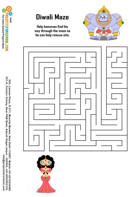 kids science projects diwali maze
