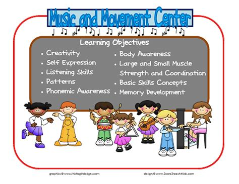 2care2teach4kids new learning center signs based on the 204   Music and Movement