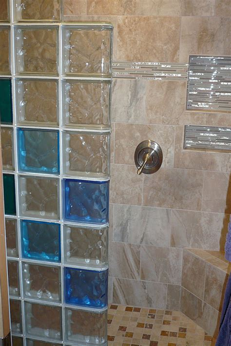 colored glass block wall   stylish  durable