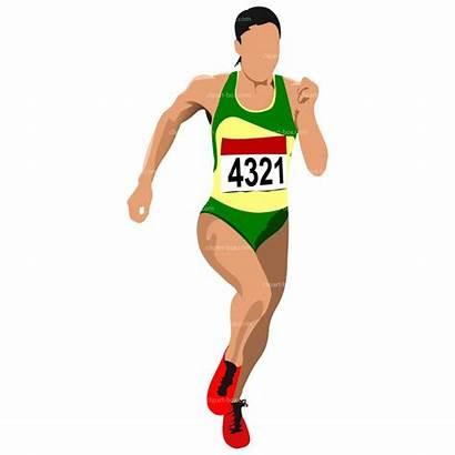 Running Clipart Clip Runner Vector Silhouette Woman