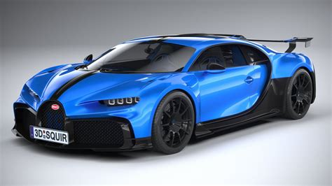The most powerful, fastest and exclusive production super sports car in bugatti's brand history: Bugatti Chiron Pur Sport 2021 Modèle 3D in Voitures de Sport 3DExport