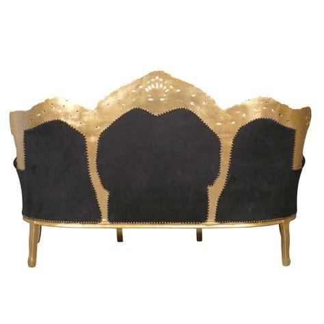 canap style baroque pas cher canapé baroque noir et or meuble baroque