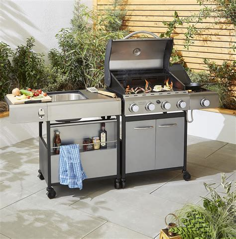kitchen sink storage new tesco premium bbq add on unit outdoor kitchen sink