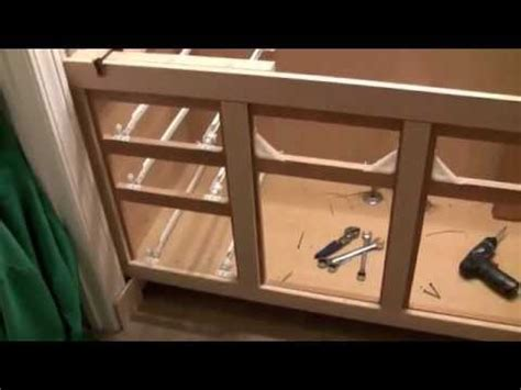 bath cabinet refinishing refacing project part youtube