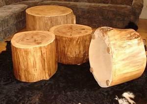 Baumstamm Kaufen Baumarkt : baumstamm als couchtisch beistelltisch hocker boholz beistelltische m bel dawanda ~ Watch28wear.com Haus und Dekorationen