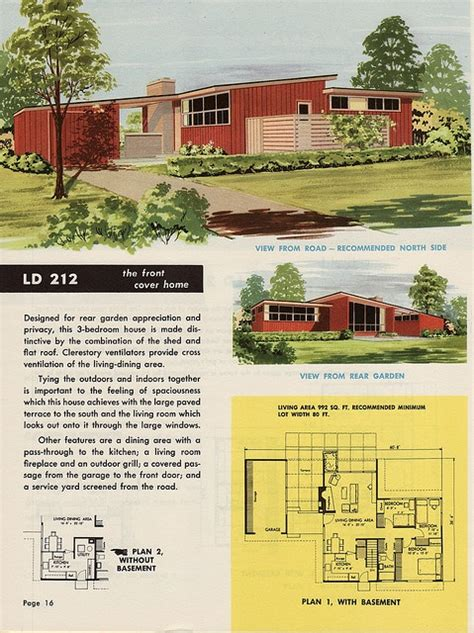 spectacular 1950s house plans 37 best images about mid century floor plans on