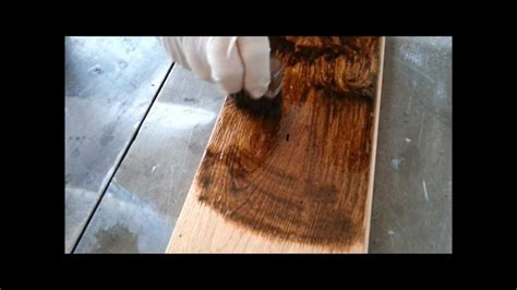 How to make a distressing flooring with worm holes and