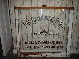 Family wall decal the gathering place vinyl lettering wall for Vinyl lettering decals for crafts