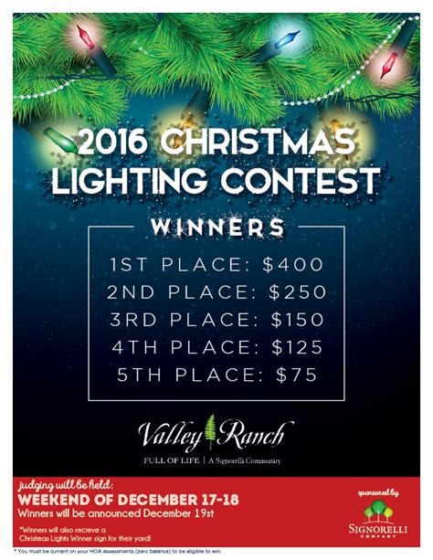 2016 christmas lighting contest