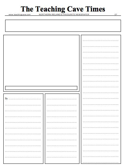 basic newspaper template writing newspaper reports ks1 and ks2 narrative lesson