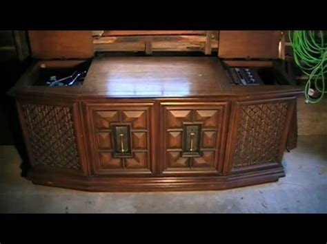 Sylvania Record Player Cabinet by Rca New Vista Console Stereo Youtube
