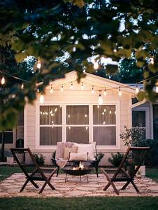 Diy Fire Pit With String Lights  U00bb Laine And Layne
