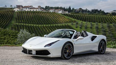 White Ferrari 488 Spider - gearheadwallpapers