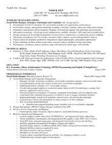 resume summary of qualifications summary of qualifications resume exle berathen com