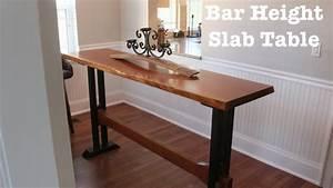 Table Bar But : bar height slab table how to youtube ~ Teatrodelosmanantiales.com Idées de Décoration