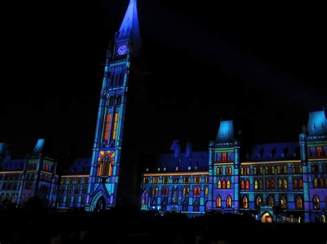 northern sound and light sound and light show on parliament hill ottawa
