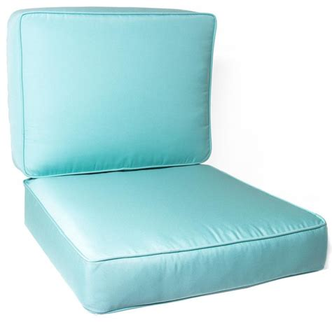 small replacement club chair cushion set with piping