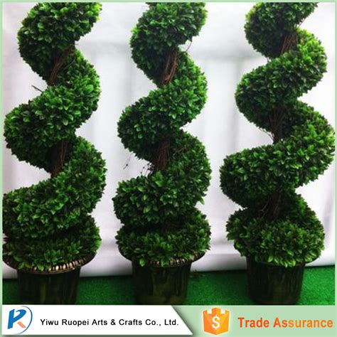 artificial ornamental plants big trees boxwood topiary spiral tree for dec buy artificial