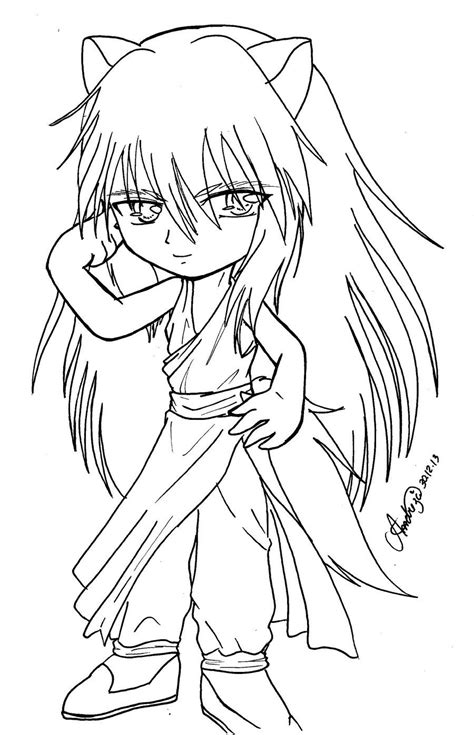 Chibi Yoko Kurama by TifaYuy Chibi Coloring pages