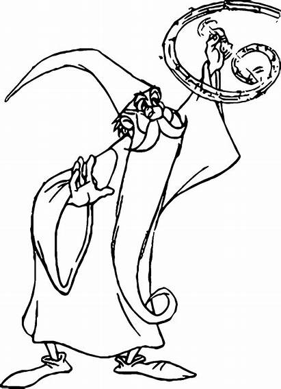 Sword Merlin Coloring Stone Pages Magic Magician