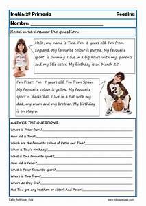 Fichas de inglés Segundo Primaria: Reading Writting